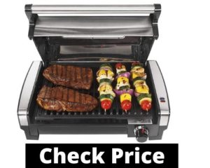 best indoor grill consumer reports Hamilton Beach Electric Indoor Searing Grill with Viewing Window and Removable Easy