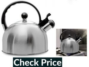 Liter Whistling Tea Kettle - Modern Stainless Steel Whistling