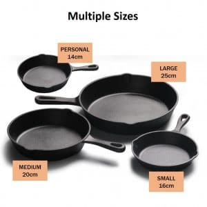 Size Of Cast Iron Pots And Pans