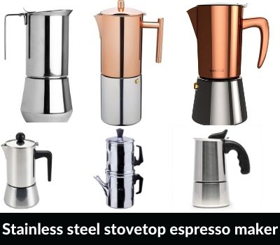 Stainless steel best stovetop espresso maker