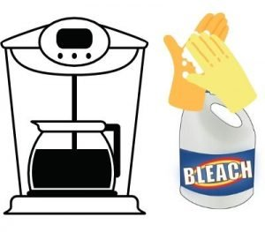 coffee maker with bleach