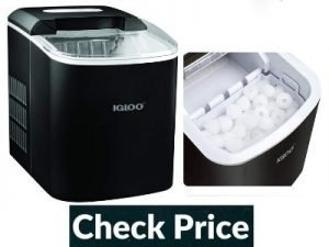 portable ice maker with freezer compartment