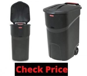 lockable trash can