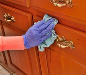 Clean Sticky Wood Kitchen Cabinets (2)
