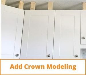 Update Kitchen Cabinets Without Replacing Them Add Crown Modeling