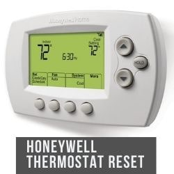 Honeywell Thermostat Reset